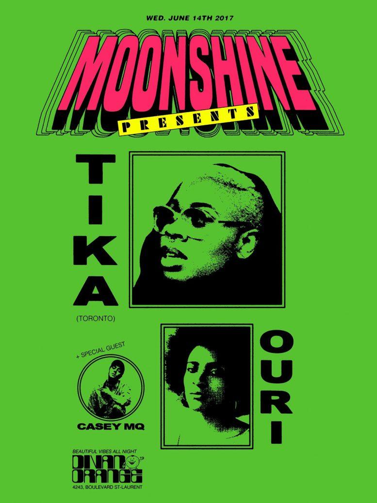 Moonshine presents: Tika • Ouri • Casey MQ