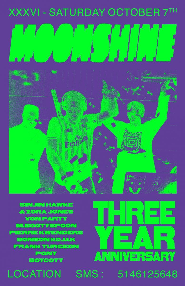 Moonshine Three Year Anniversary