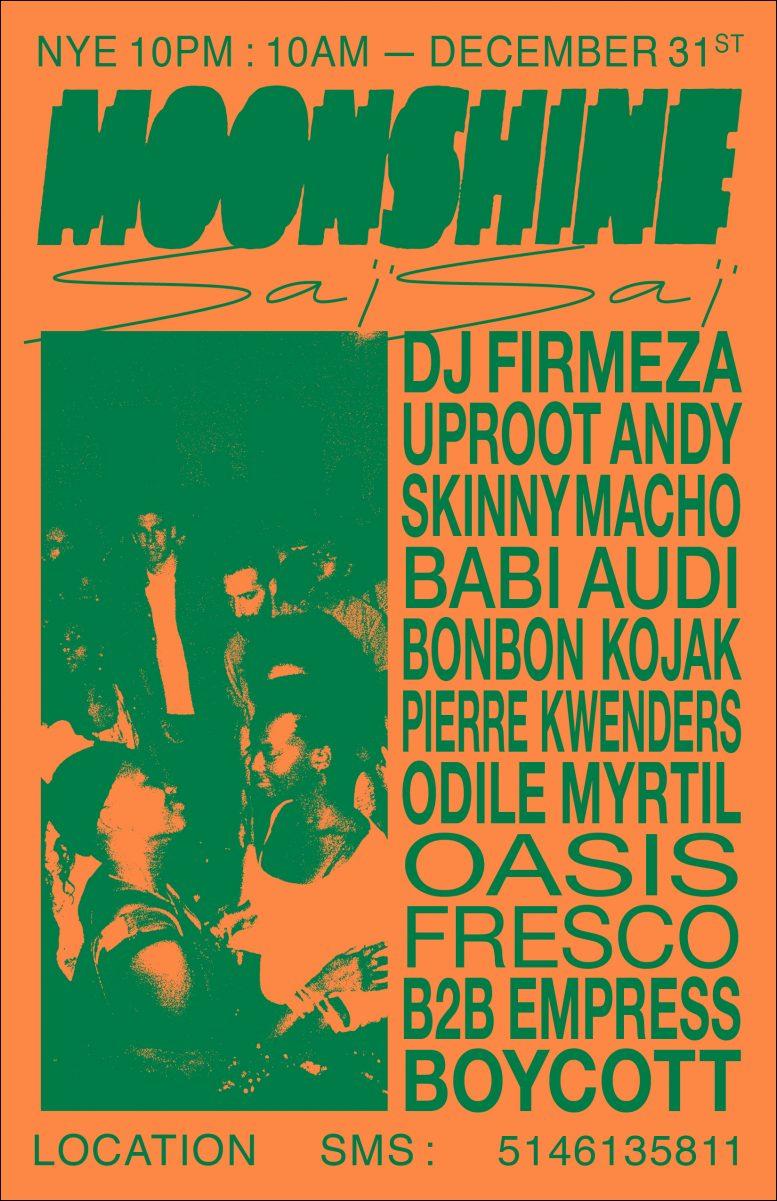 Moonshine Saï Saï – NYE 12h Special